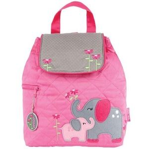 New ELEPHANT Toddler Girl's Quilted Backpack NWT